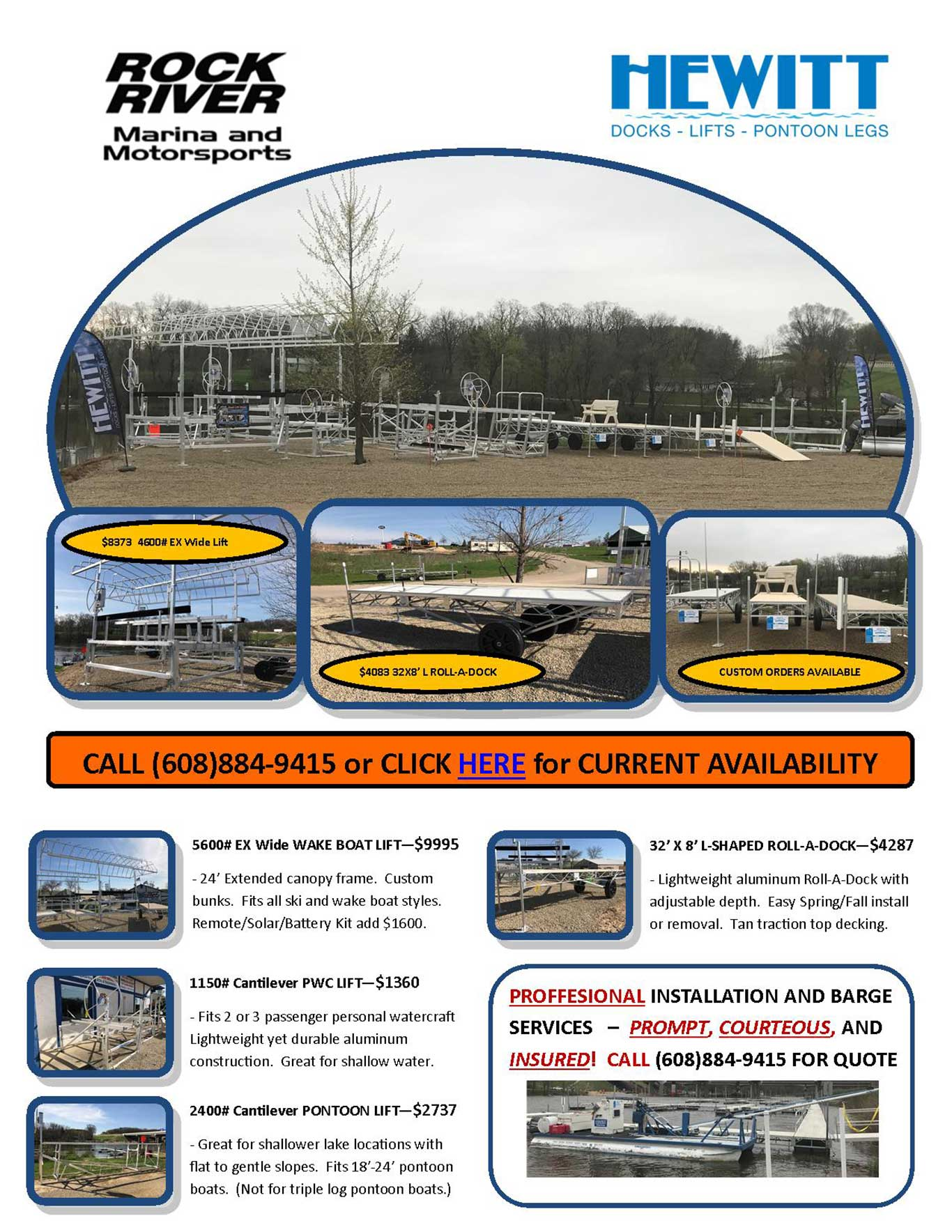 Rock River Marina | Dock and Lift | Edgerton, WI